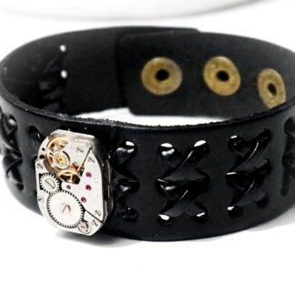 Стимпанк БДСМ кожаный браслет мужской натуральная кожа