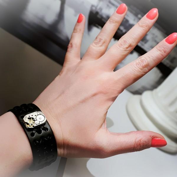 Steampunk BDSM bracelet mens cuff