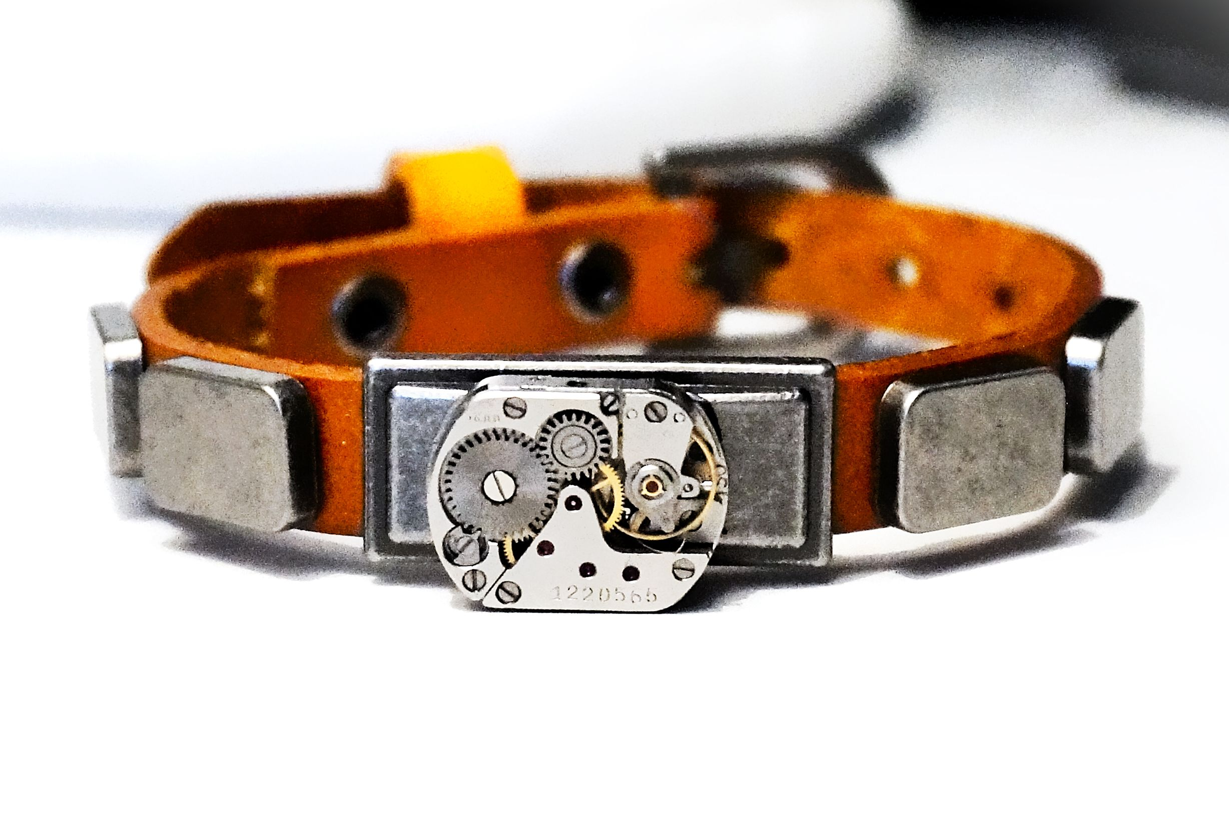 Steampunk BDSM bracelet mens cuff submissive dominant