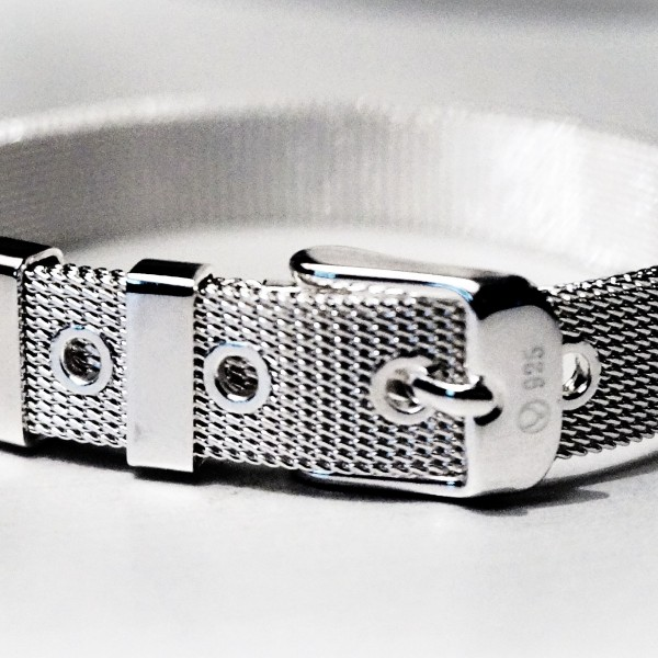 BDSM jewelry silver bracelet cuff submissive dominant lock