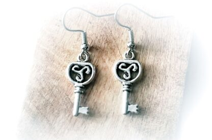 BDSM triskele symbol emblem earrings