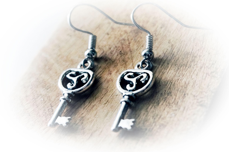 BDSM triskele symbol emblem earrings