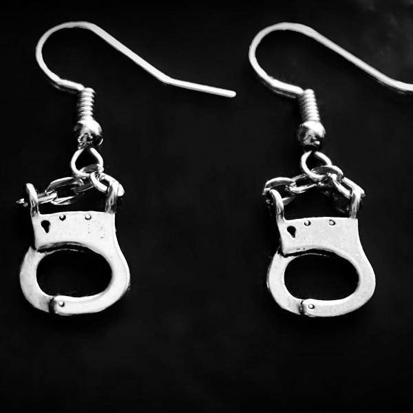 BDSM jewelry handcuffs earrings