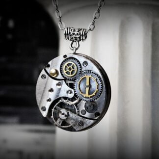 Steampunk bdsm necklace pendant collar