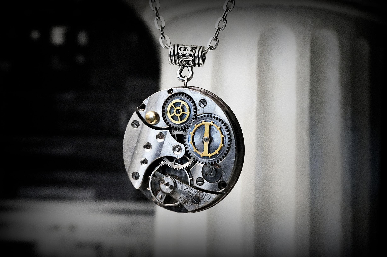 Steampunk bdsm necklace pendant collar