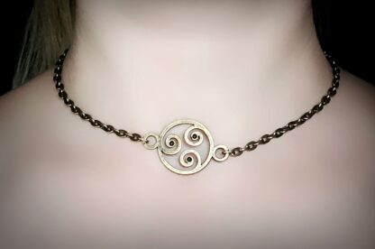 BDSM symbol triskele collar triskelion necklace