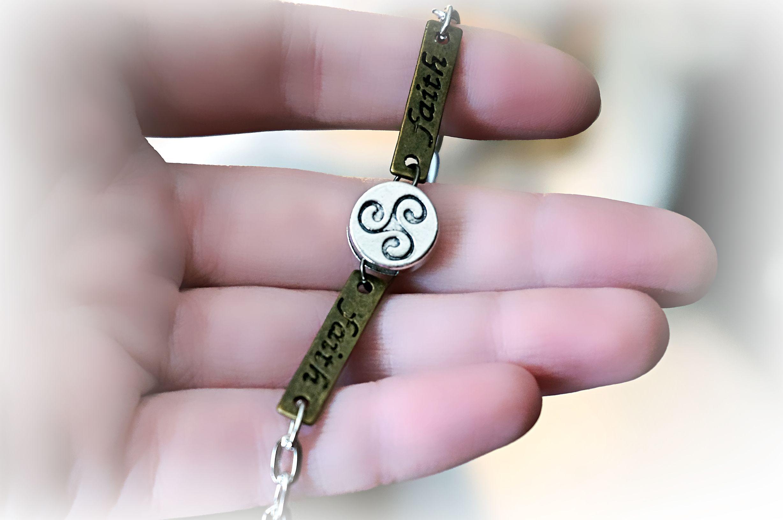 BDSM symbol triskele emblem bracelet triskelion jewelry