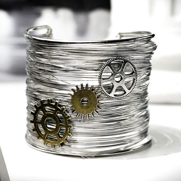 Steampunk BDSM jewelry bracelet Burning Man costumes