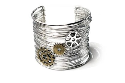 Steampunk BDSM jewelry bracelet Burning Man costumes