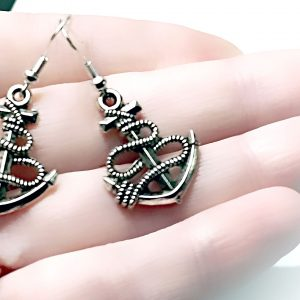 Hippie chic boho style earrings anchor