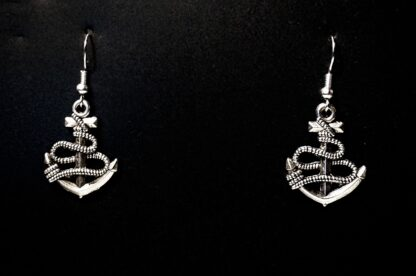Hippie chic boho style earrings anchor