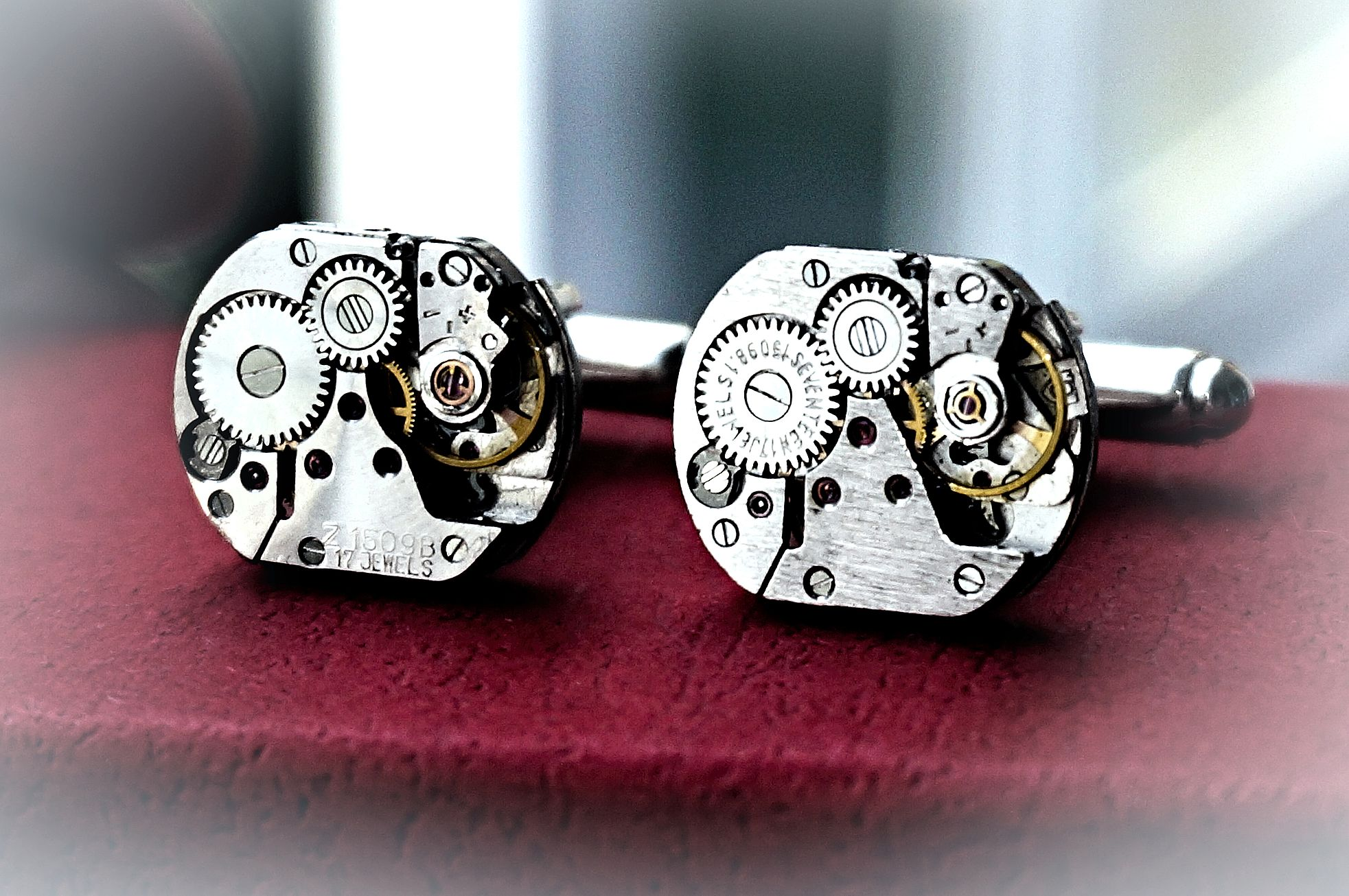 Steampunk BDSM cufflinks mens gift for him