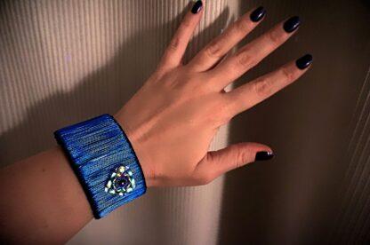 Steampunk jewelry bracelet hippie psychedelic heart