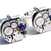 Steampunk jewelry cufflinks mens gift for him