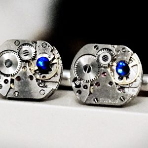 Steampunk jewelry cufflinks mens gift for him