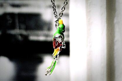 Хиппи шик бохо украшение подвеска птица попугай