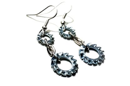Steampunk BDSM earrings submissive dominantrix clothing burning man outfit