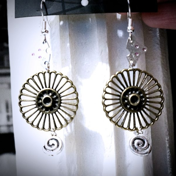 Steampunk jewelry earrings Burning Man clothing