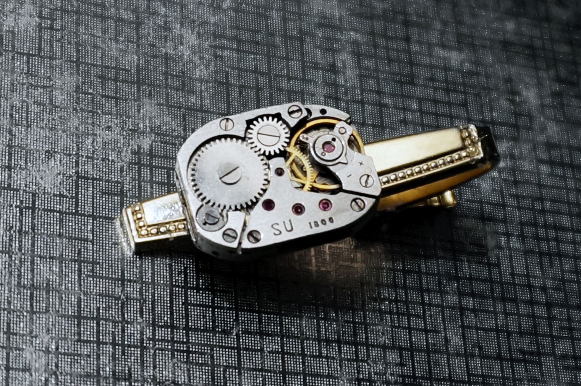 Steampunk jewelry mens tie clip accessories
