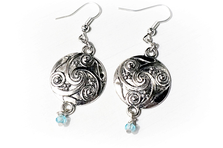 BDSM symbol triskele earrings submissive