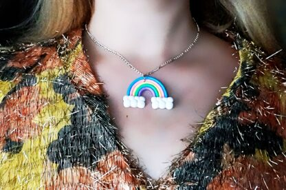 Хиппи одежда подвеска бохо шик психоделика неон транс радуга