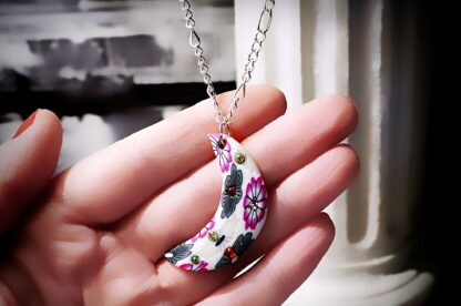 psychedelic trance boho chic pendant