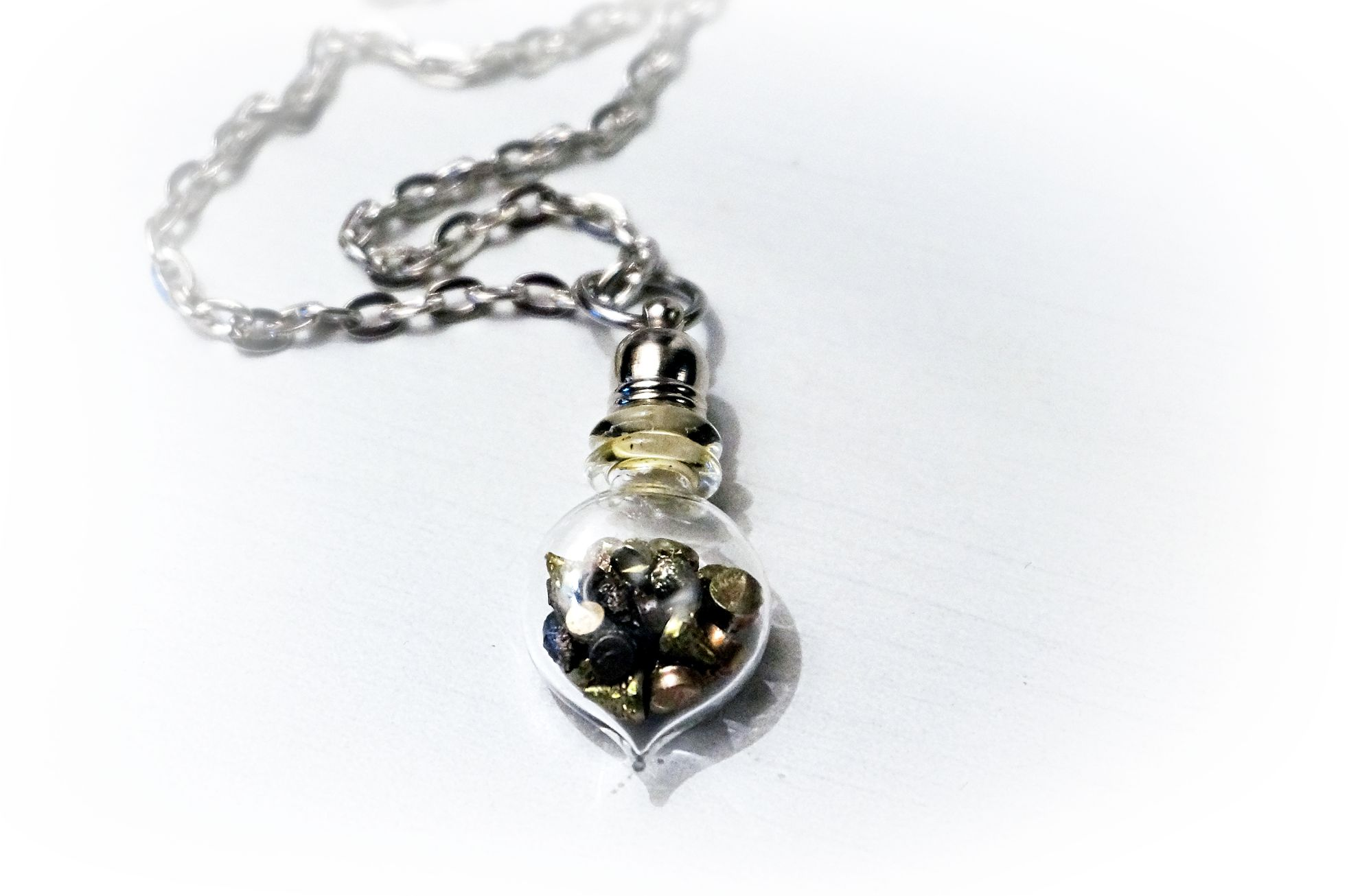 Steampunk BDSM submissive collar bottle necklace pendant