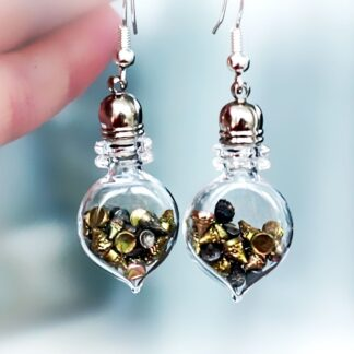 Steampunk BDSM jewelry bottle earrings submissive dominant