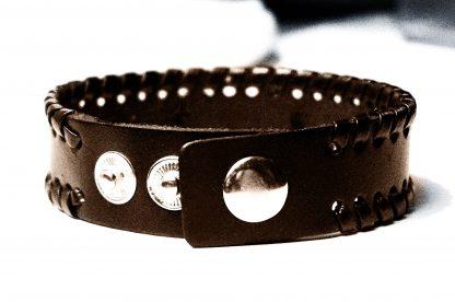 BDSM jewelry mens leather cuff bracelet