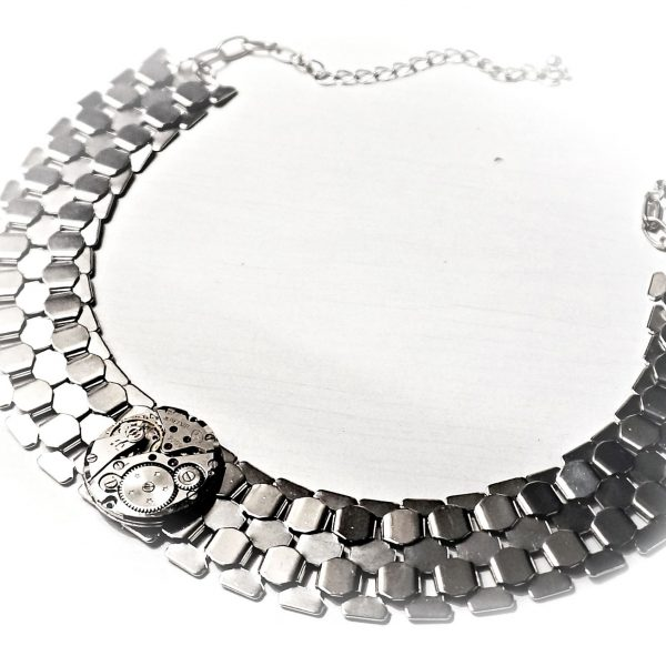 Metal submissive collar choker
