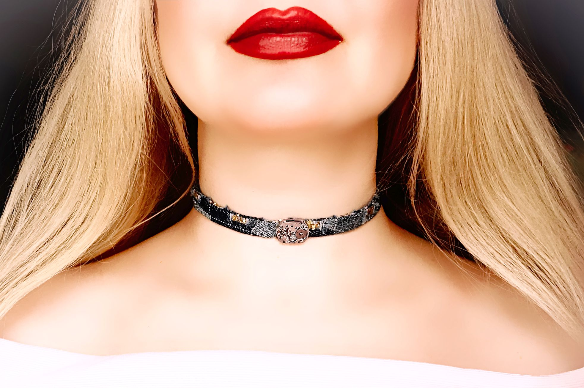 Slave submissive day collar choker bdsm