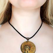 Steampunk BDSM collar pendant necklace