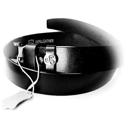 Dominant submissive leather belt triskele symbol