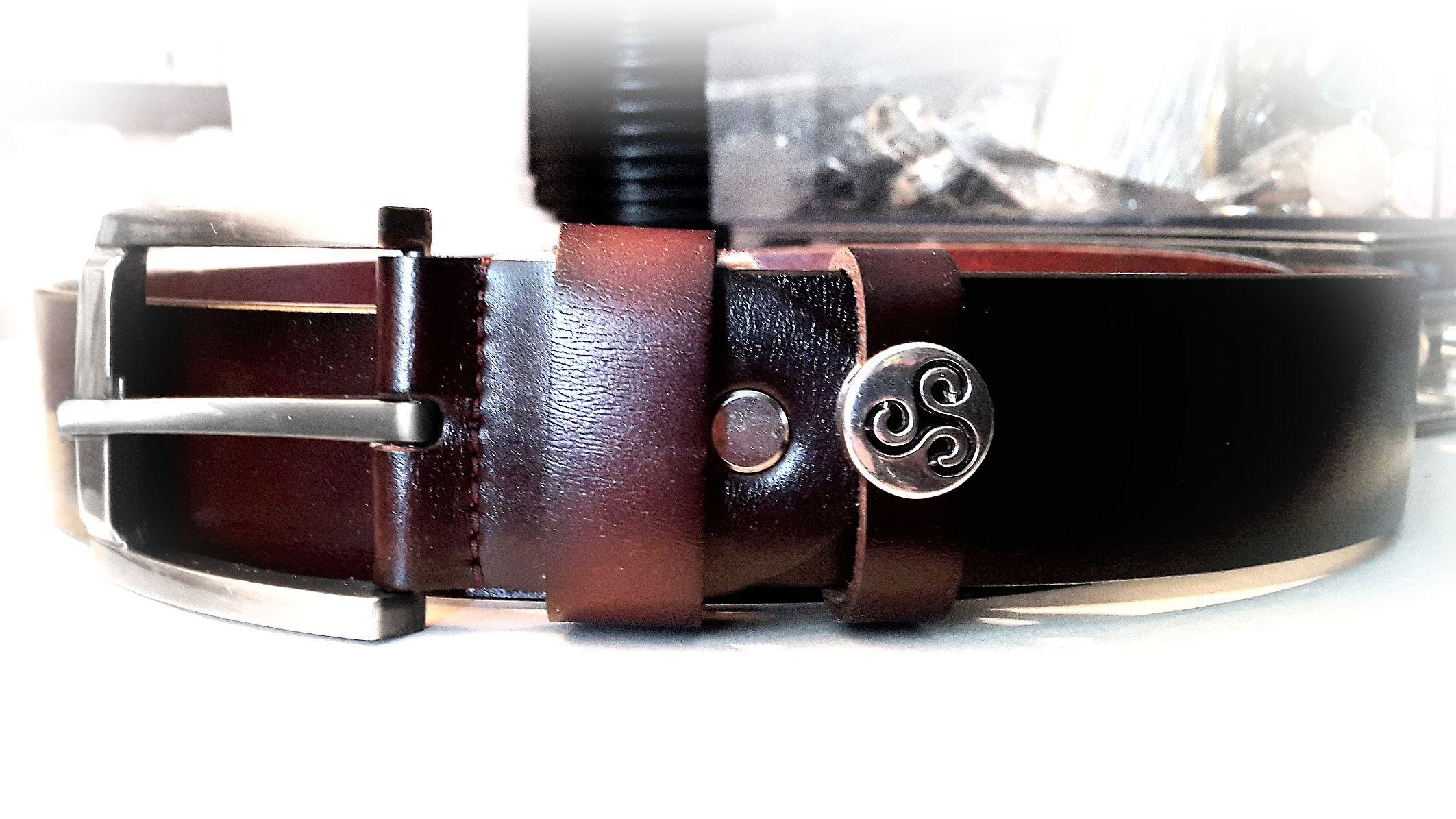 БДСМ символ трискель ремень кожаный