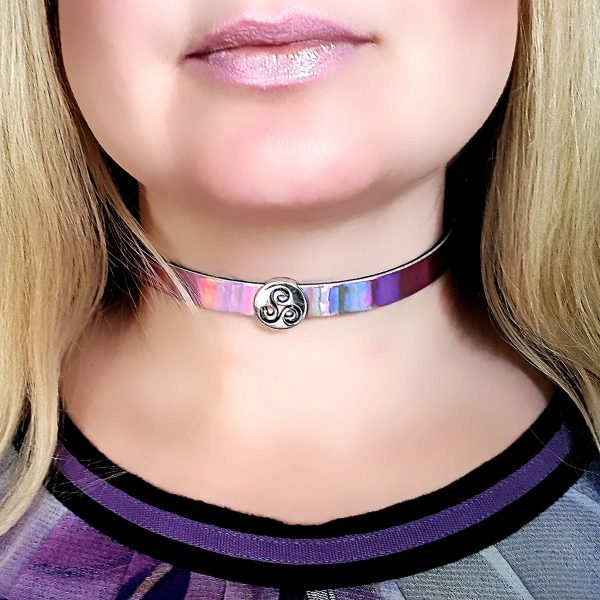 Submissive day collar bdsm triskele