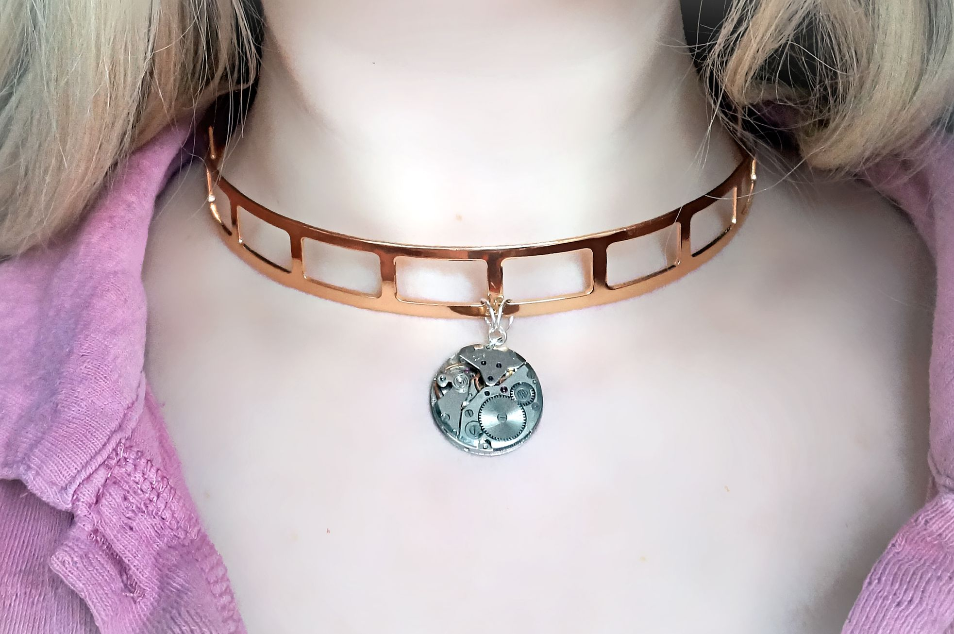 BDSM jewelry submissive collar metal choker