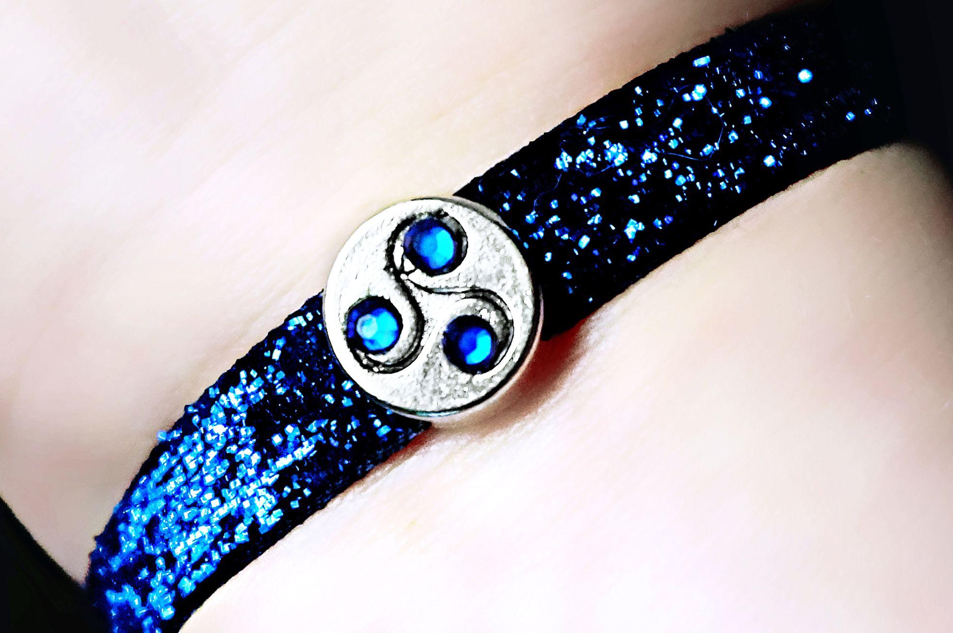 BDSM jewelry symbol triskele cuff bracelet