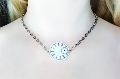 Steampunk jewelry submissive day collar