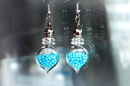 Psychedelic jewelry bottle earrings hippie