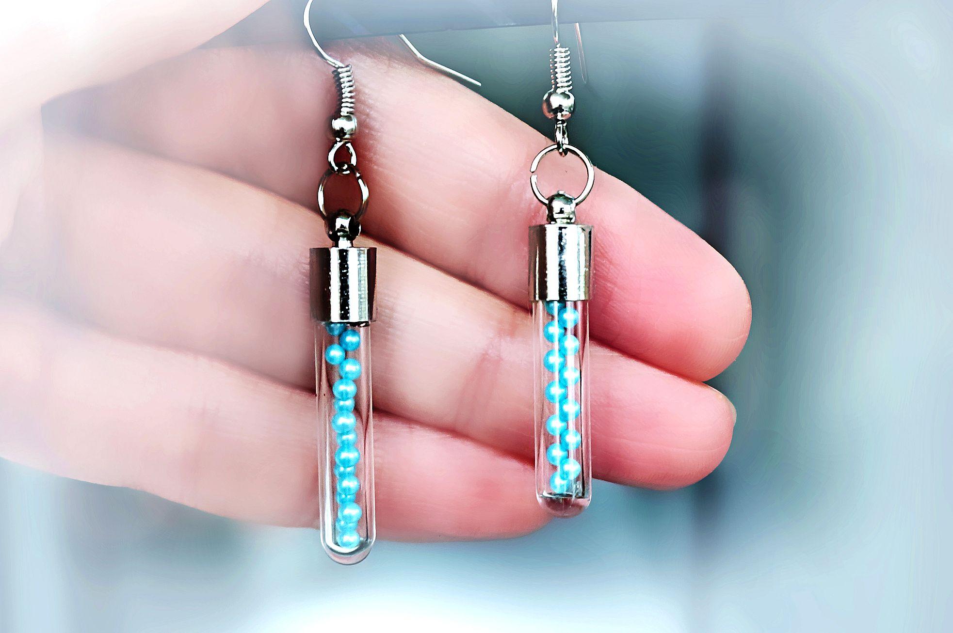 Psychedelic jewelry bottle earrings hippie boho