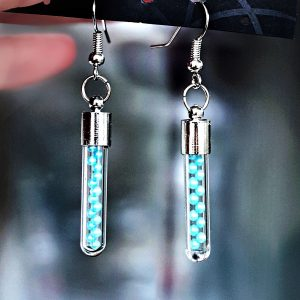 Psychedelic jewelry bottle earrings hippie boho