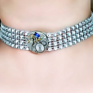 Submissive day collar Steampunk BDSM choker