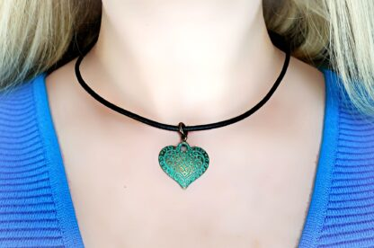 BDSM leather day submissive collar Heart