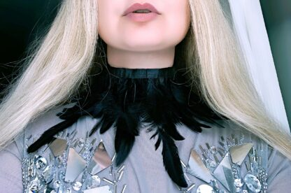 Gothic feather choker bohemian necklace