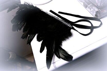Чокер из перьев бархотка