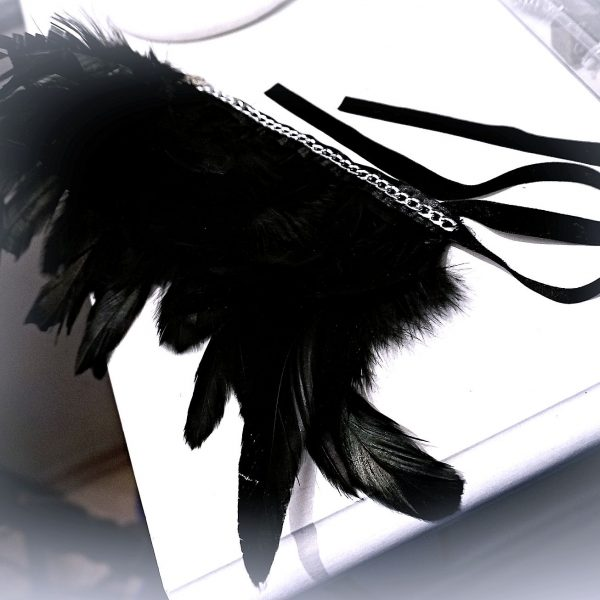 Feather choker triskele emblem