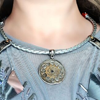 Steampunk burning man necklace space collar choker