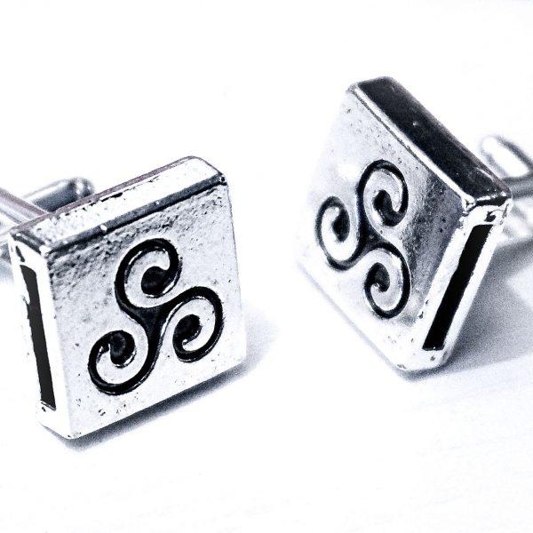 Mens cufflinks BDSM triskele symbol