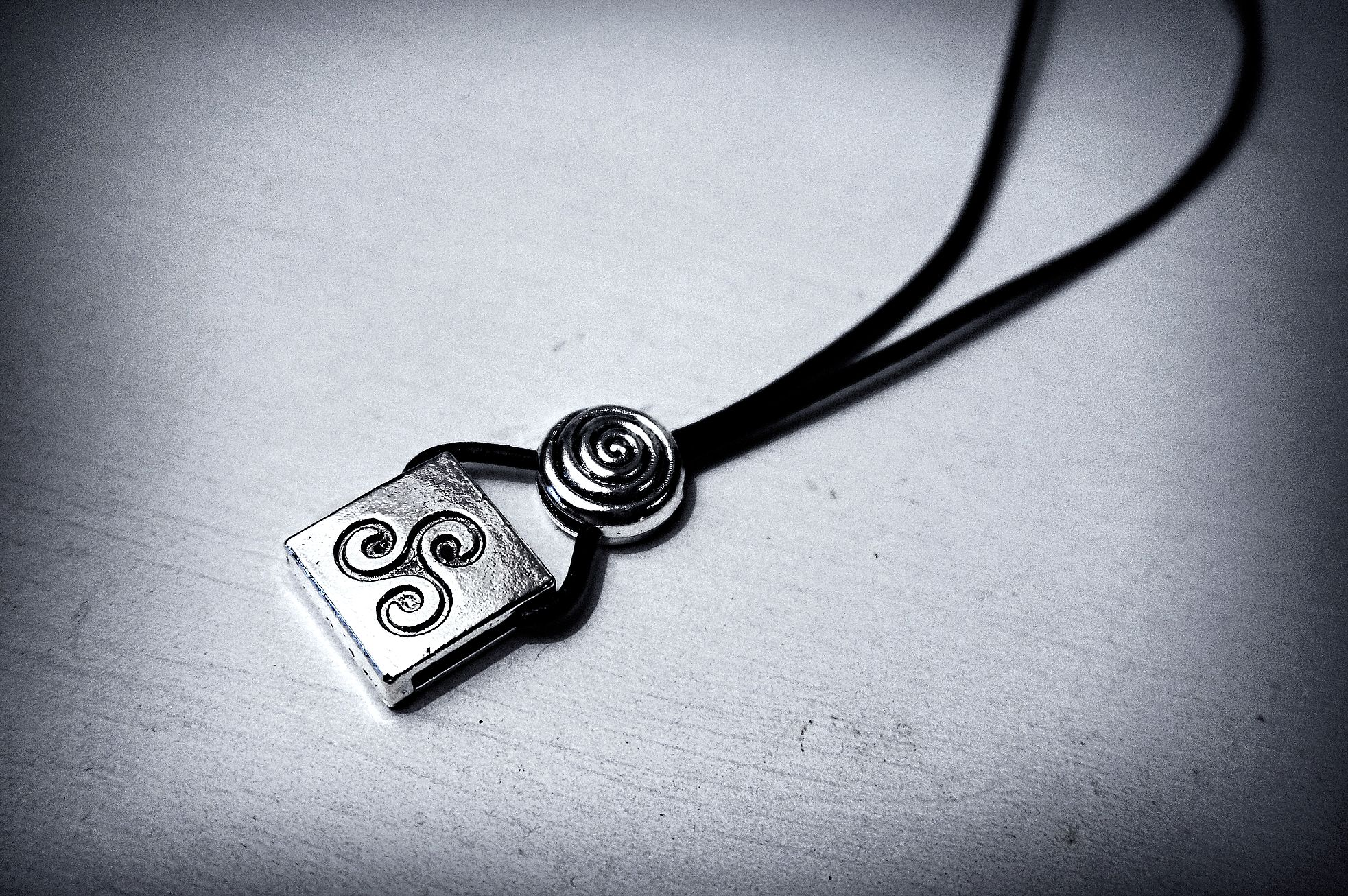 Mens necklace pendant BDSM symbol