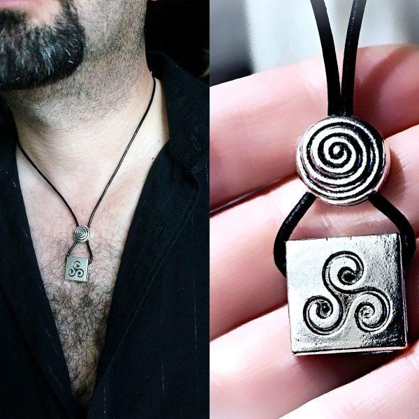 Mens necklace pendant BDSM symbol